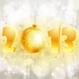 New Year background. With stylized 2013 with Bauble, element for design, vector illustration Royalty Free Stock Photography