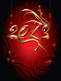 New year background. Decorative new year background  with the number 2013 Stock Photo