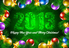 New Year background. Bright christmas background with the date 2013 Stock Photo