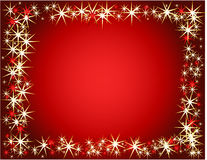 New Year background. New Year and Christmas background, red stock illustration