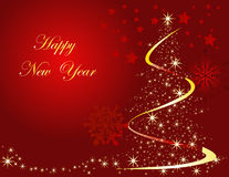 New Year background. New Year and Christmas background, red Stock Photo