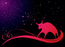 New year background. Decorative card with bull, symbol of 2009 royalty free illustration