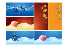 New-year background. Backgrounds for new-year postals vector illustration