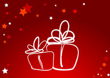 New year background. Vector new year red background Royalty Free Stock Images