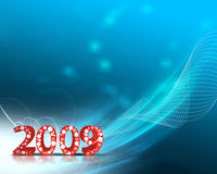 New Year background. 2009 wave element for design - New Year background Royalty Free Stock Photo