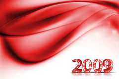 New Year background. 2009 wave element for design - New Year background Stock Photo