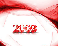 New Year background. 2009 wave element for design - New Year background Royalty Free Stock Photos
