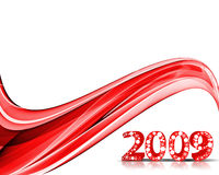 New Year background. 2009 wave element for design - New Year background Royalty Free Stock Photography