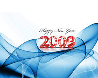 New Year background. 2009 wave element for design - New Year background Stock Image