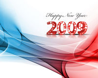 New Year background. 2009 wave element for design - New Year background Royalty Free Stock Image