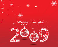 New year background. 2009 new year composition.Vector illustration royalty free illustration