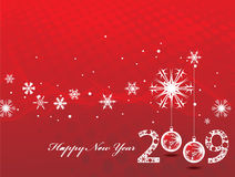 New year background. 2009 new year composition.Vector illustration stock illustration