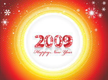 New Year background. 2009 wave element for design - New Year background Stock Images