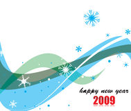 New Year background. 2009 wave element for design - New Year background Stock Photos