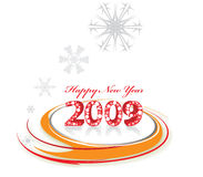 New Year background. 2009 swing wave element for design - New Year background Stock Photography