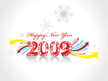 New Year background. 2009 wave arrow element for design - New Year background Royalty Free Stock Photos