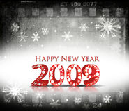 New Year background. Grunge film background with 2009 element for design - New Year background Stock Illustration