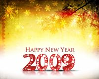 New Year background. Grunge background with 2009 element for design - New Year background Vector Illustration
