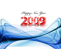 New Year background. 2009 Abstract wave element for design - New Year background Royalty Free Stock Images