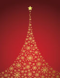 New year background. Golden vector background with xmas tree Stock Illustration