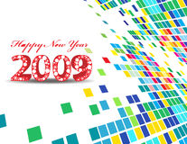 New Year background. 2009 wave element for design - New Year background Royalty Free Stock Images