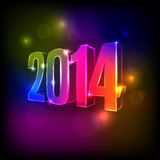 2014 New Year background. New Year abstract colourful background with numbers 2014 Royalty Free Stock Images
