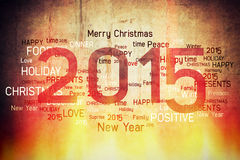 New Year background. Abstract New Year 2015 background with the fire flames Royalty Free Stock Image