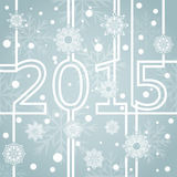 New 2015 year background. Abstract new 2015 year snowflake grey blue background stock illustration