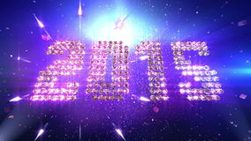 New Year 2015 Background Animation stock video