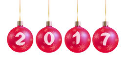 2017 New Year background with balls.  Royalty Free Stock Image