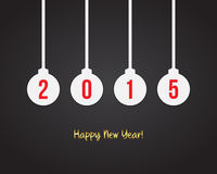 2015 New year background. With balls-shaped sticker Stock Photos