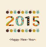 New Year 2015  Background. New Year 2015 background with new year balls. Vector Royalty Free Stock Image