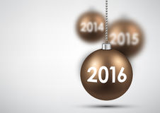 2016 New Year background. With balls. Vector illustration Stock Photos