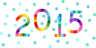 New year 2015 background, banner Royalty Free Stock Image