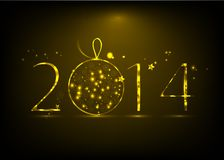 New Year 2014 background. New Year banner. Inscription 2014 vector illustration royalty free illustration