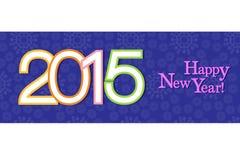 New year background of banner style - eps10 illustration Royalty Free Stock Image