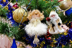 New Year background - beautiful on a Christmas tree Stock Photography