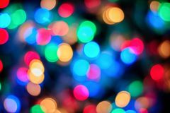 New Year background. beautiful colorful bokeh Stock Photography