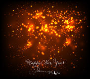 New year background black and gold. Beautiful Vector Fireworks for happy new year Royalty Free Stock Photography