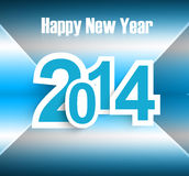 New year 2014 background blue. Colorful Royalty Free Stock Image