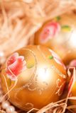 New year  background with boll and strow in gold Stock Photo