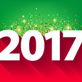 New Year 2017 background. Royalty Free Stock Photo