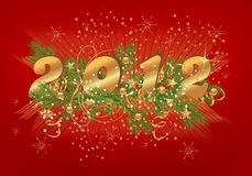 New Year background, cdr vector Stock Image