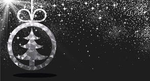 New Year background with Christmas ball. Royalty Free Stock Image