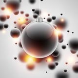 New Year background with Christmas ball. New Year background with Christmas ball and bubbles. Vector illustration Royalty Free Stock Photos