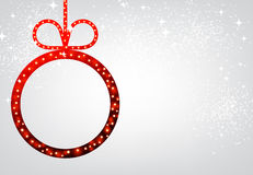 New Year background with Christmas ball. New Year background with red Christmas ball. Vector illustration Royalty Free Stock Images