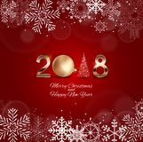 2018 New Year Background with Christmas Ball. Vector Illustration. EPS10 Stock Photos