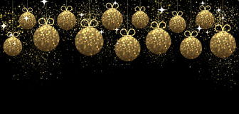 New Year background with Christmas balls. Royalty Free Stock Image