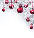 New Year background with Christmas balls. Stock Image