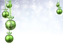 New Year background with Christmas balls. New Year background with green Christmas balls. Vector illustration Royalty Free Stock Images